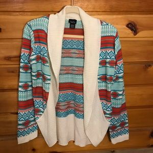 Rue 21 Tribal Open Cardigan